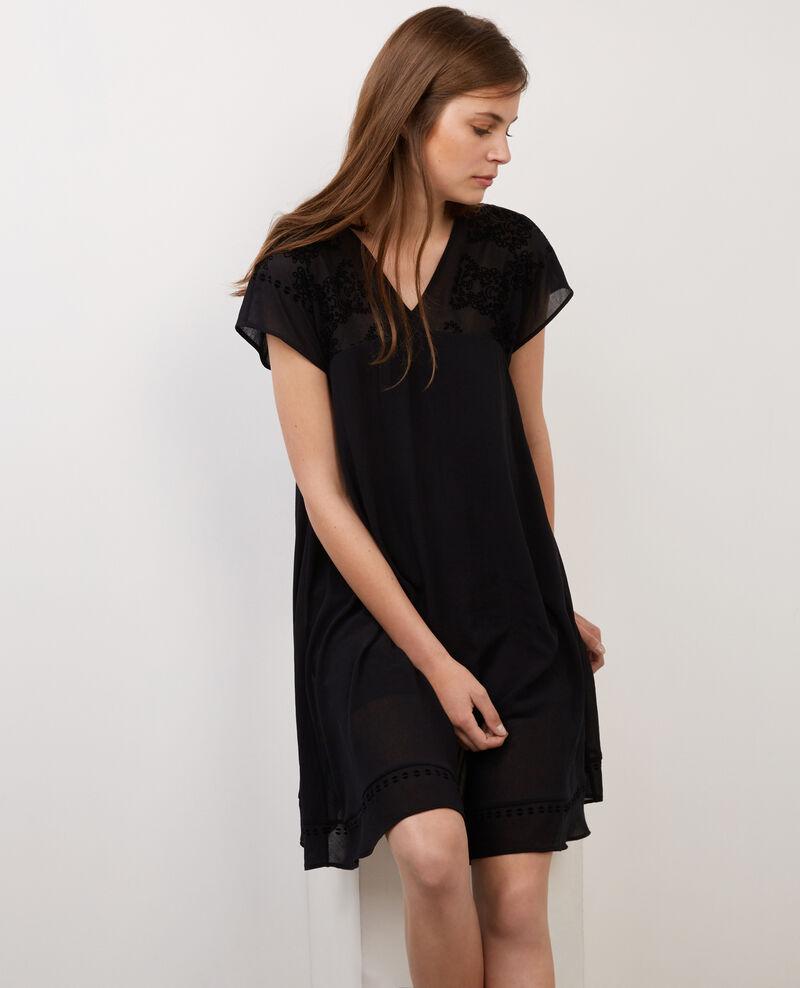 Robe ample Noir Biflock