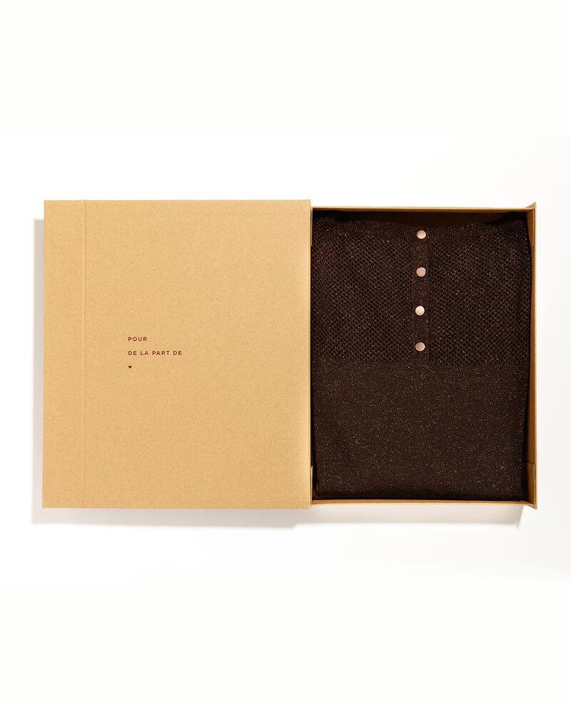 Boite cadeau - Pull avec laine et détail en lurex Maroon Blayla