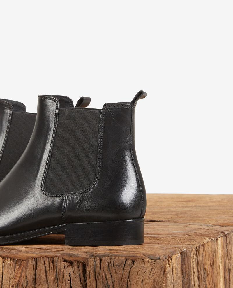 Low leather boots Noir Defi