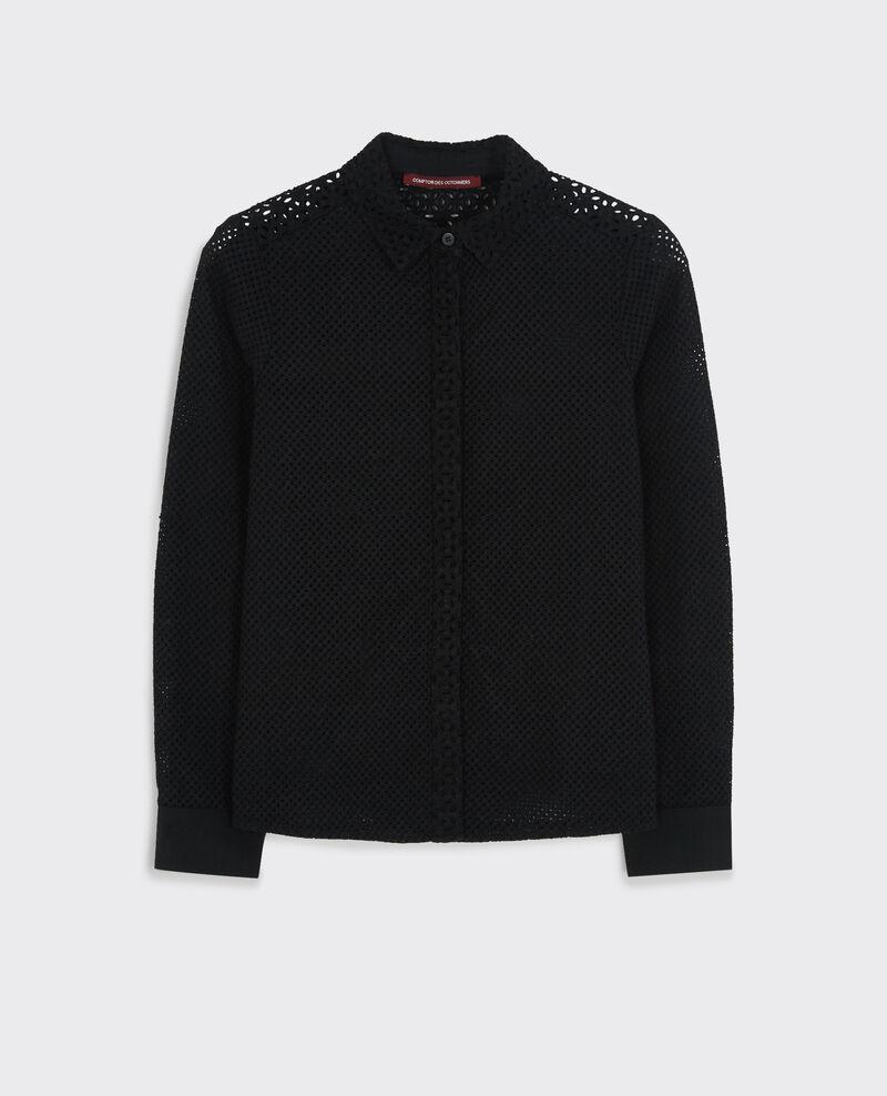Broderie anglaise shirt Noir Cardamone