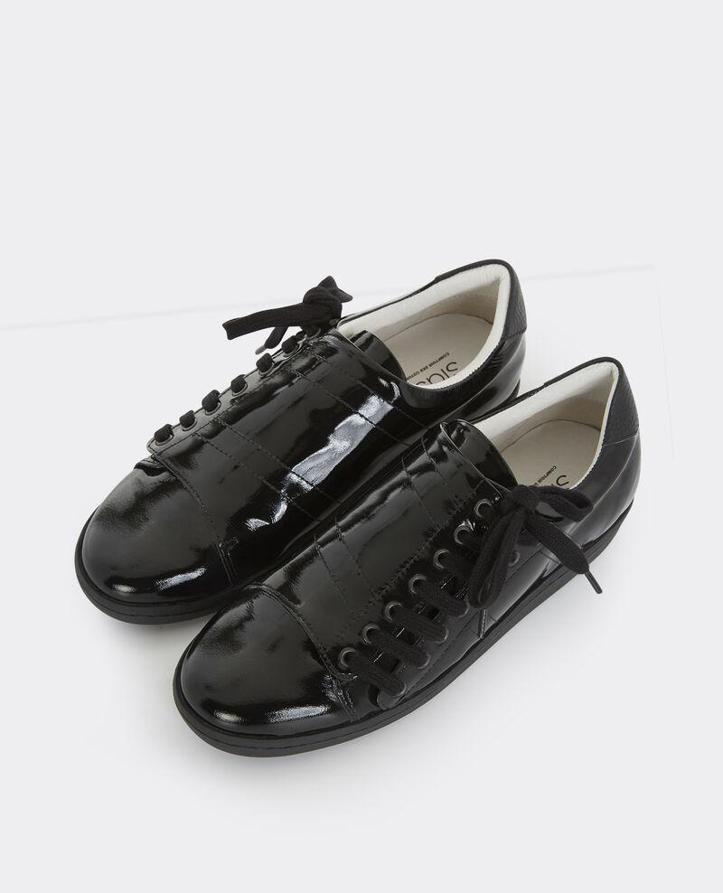 Sneakers slash en cuir noir basket comptoir des cotonniers - Verlicht en cuir noir ...