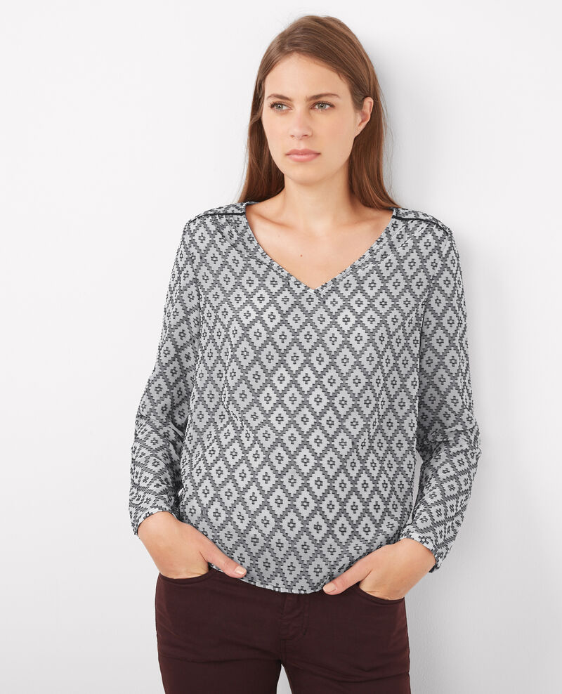 Blusa estampada Black/off white Boboon