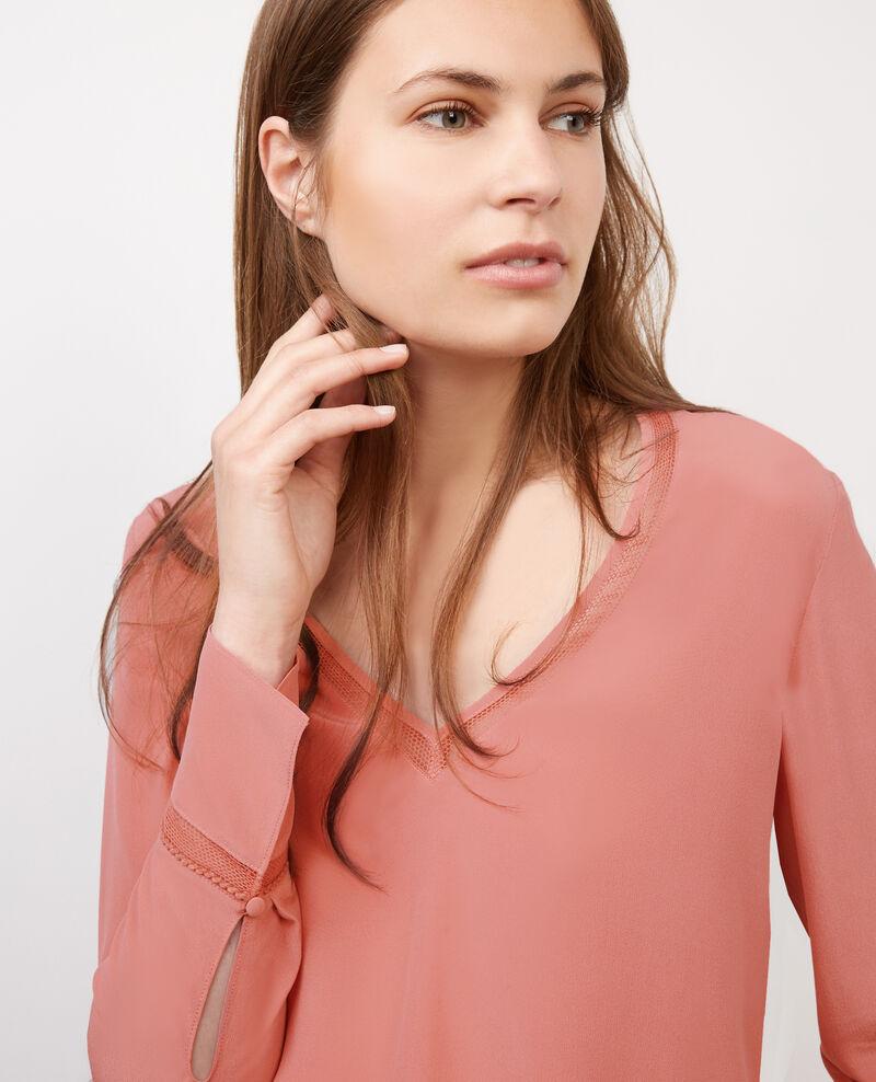Blusa de seda Terracotta Byim