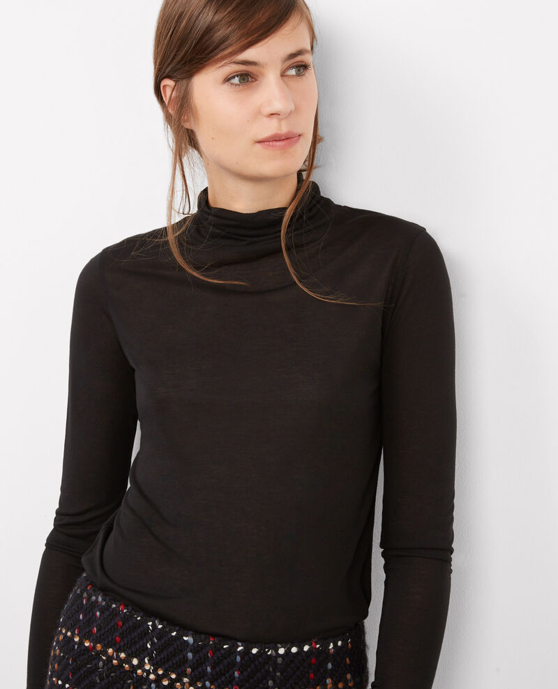 Roll neck top Noir Bellatre