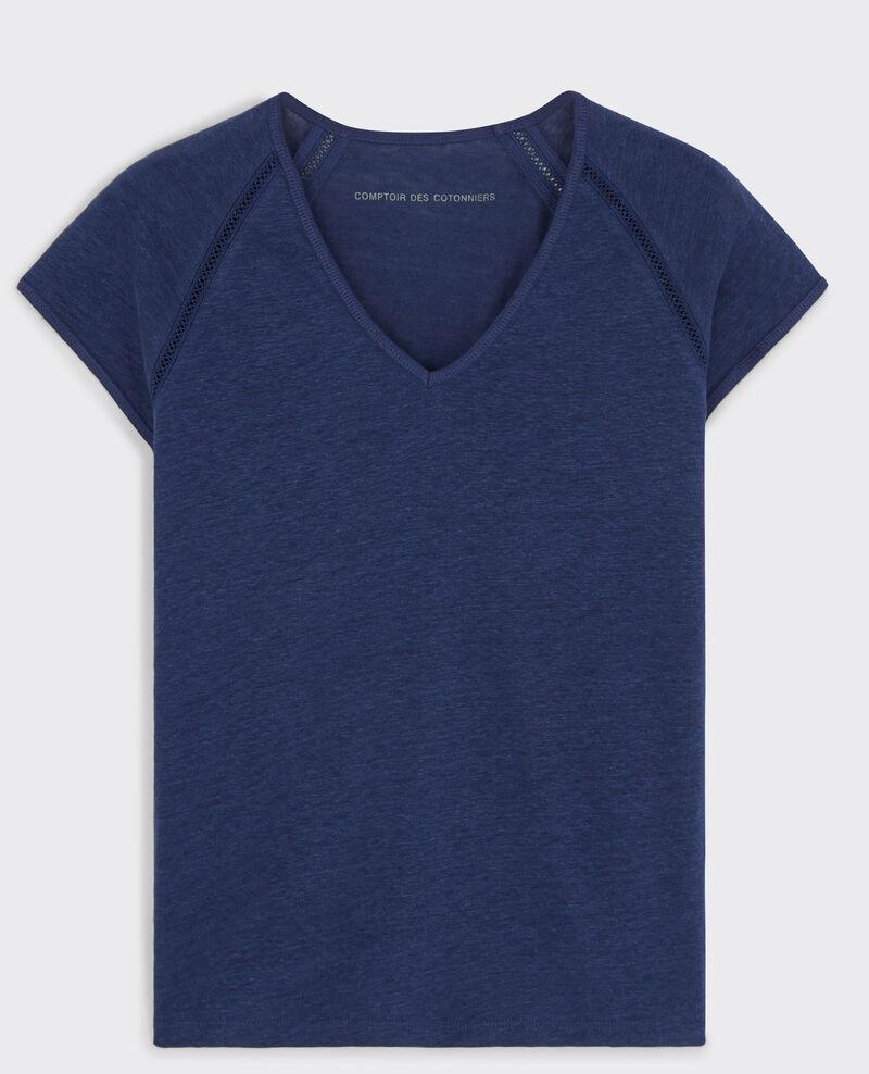 T-Shirt en lin Indigo Caramel