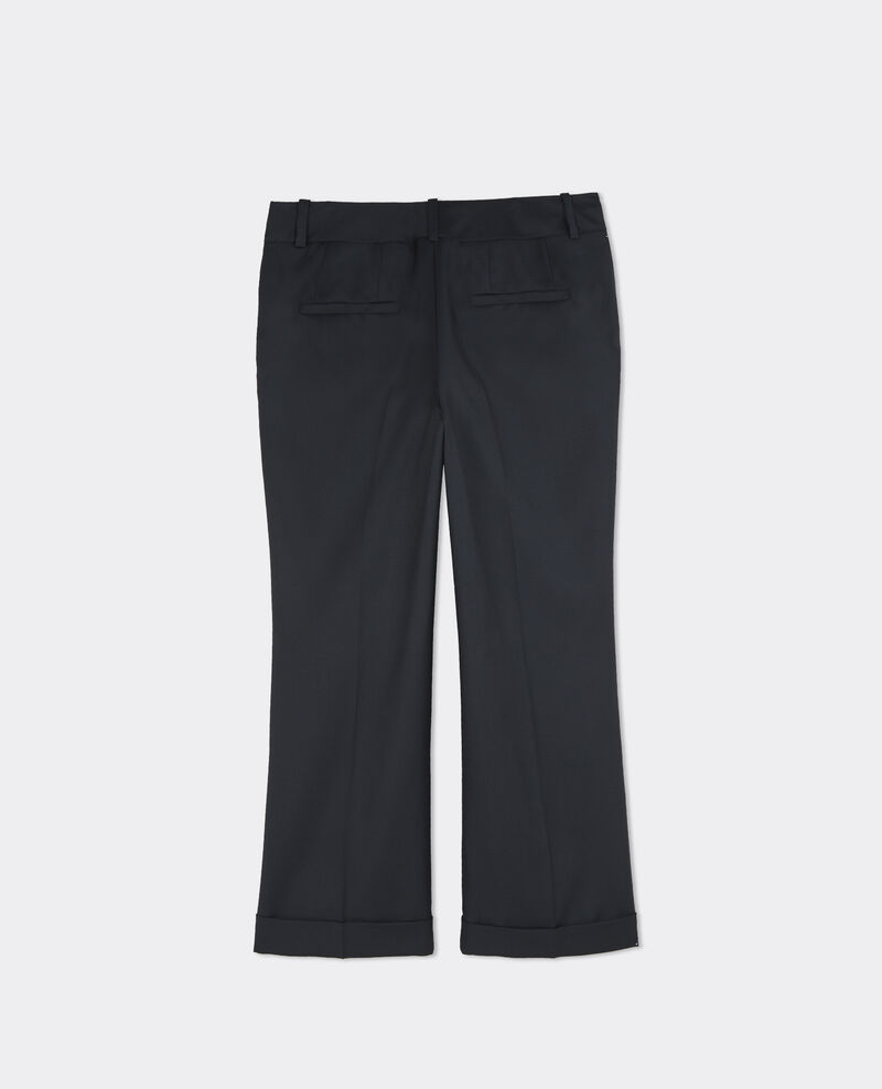 Pantalon office en laine Dark ocean Baterville