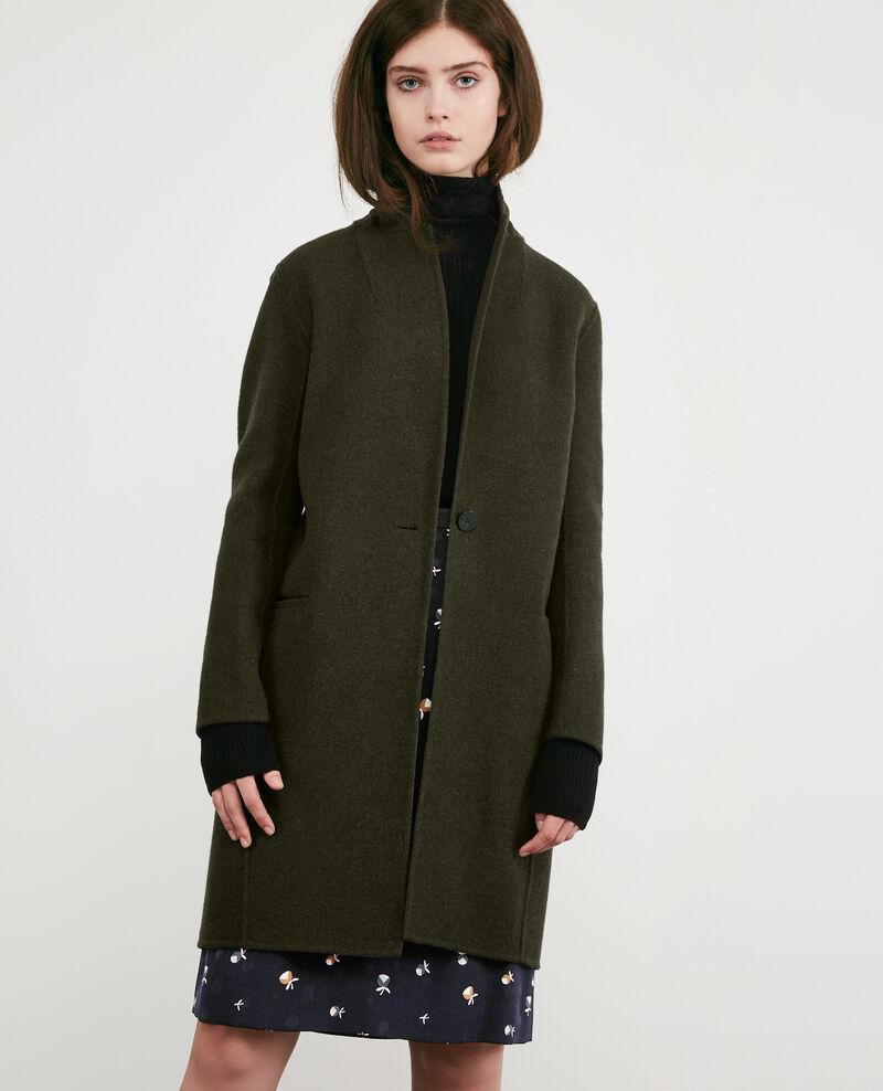 Manteau en laine double face kaki dexpresso comptoir - Manteau comptoir des cotonniers hiver 2012 ...