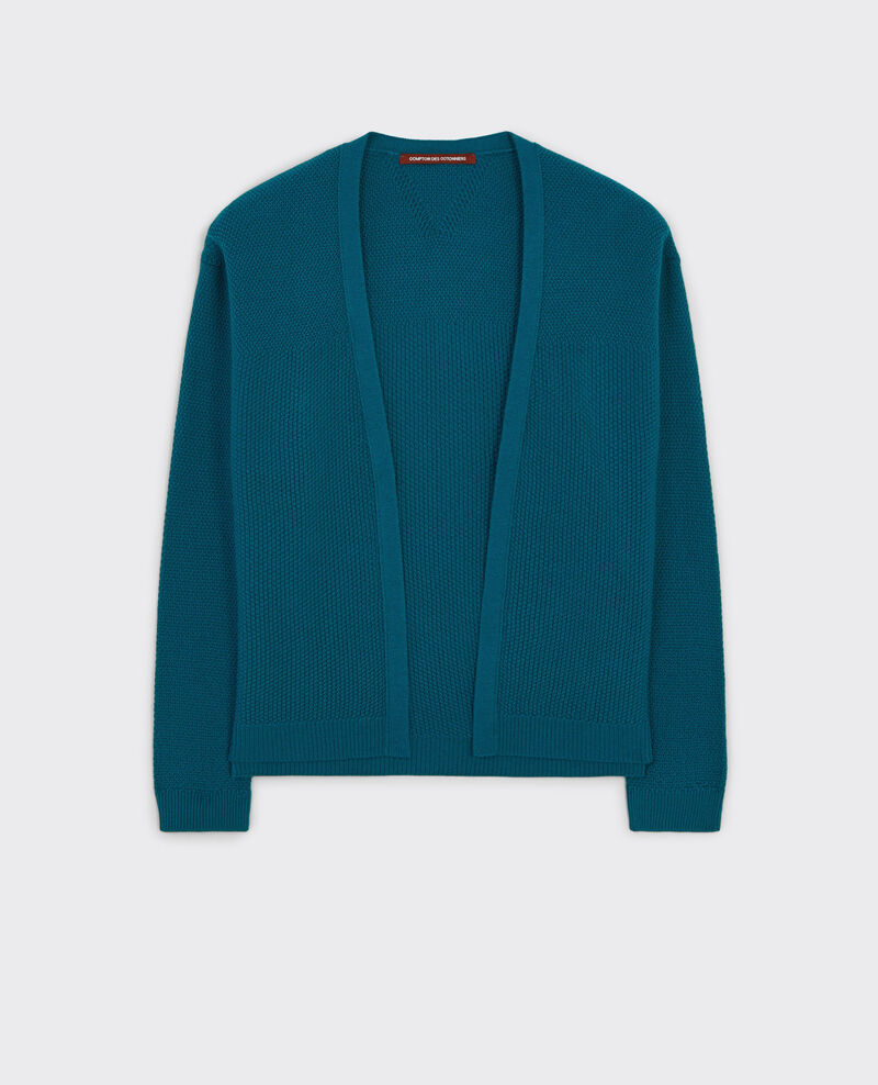 Wool open cardigan Berlin blue Cacou
