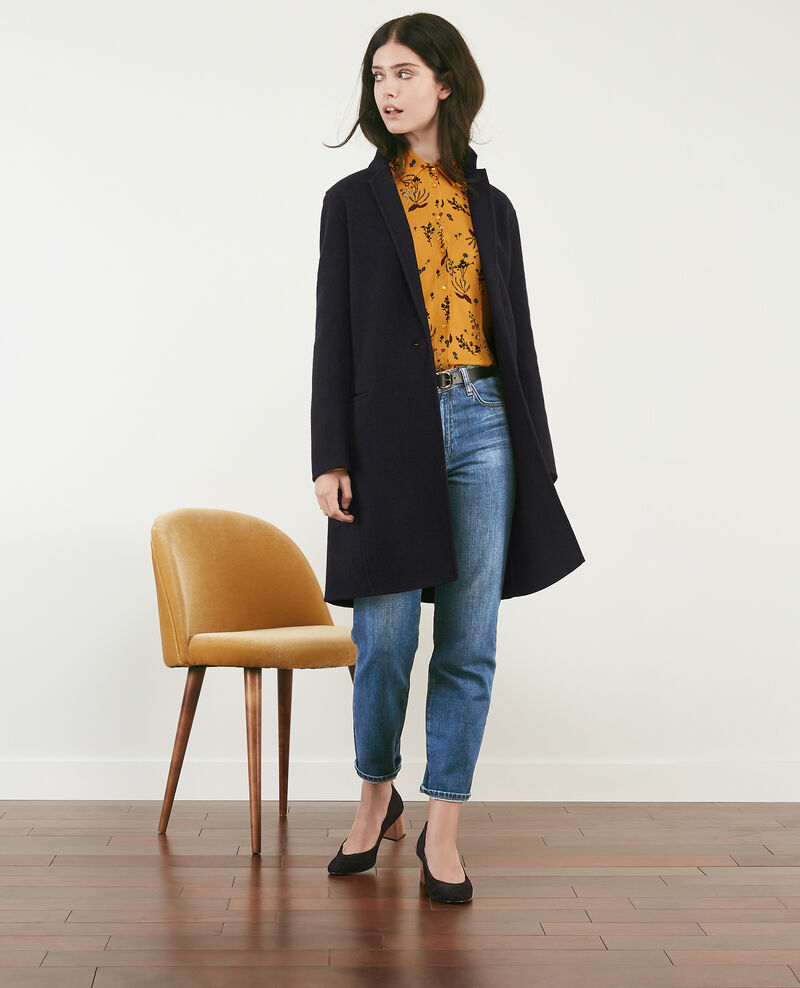 Manteau en laine double-face Navy Dexpresso
