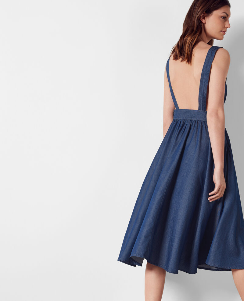 Denim Apron Dress Denim Ceyonce Comptoir Des Cotonniers