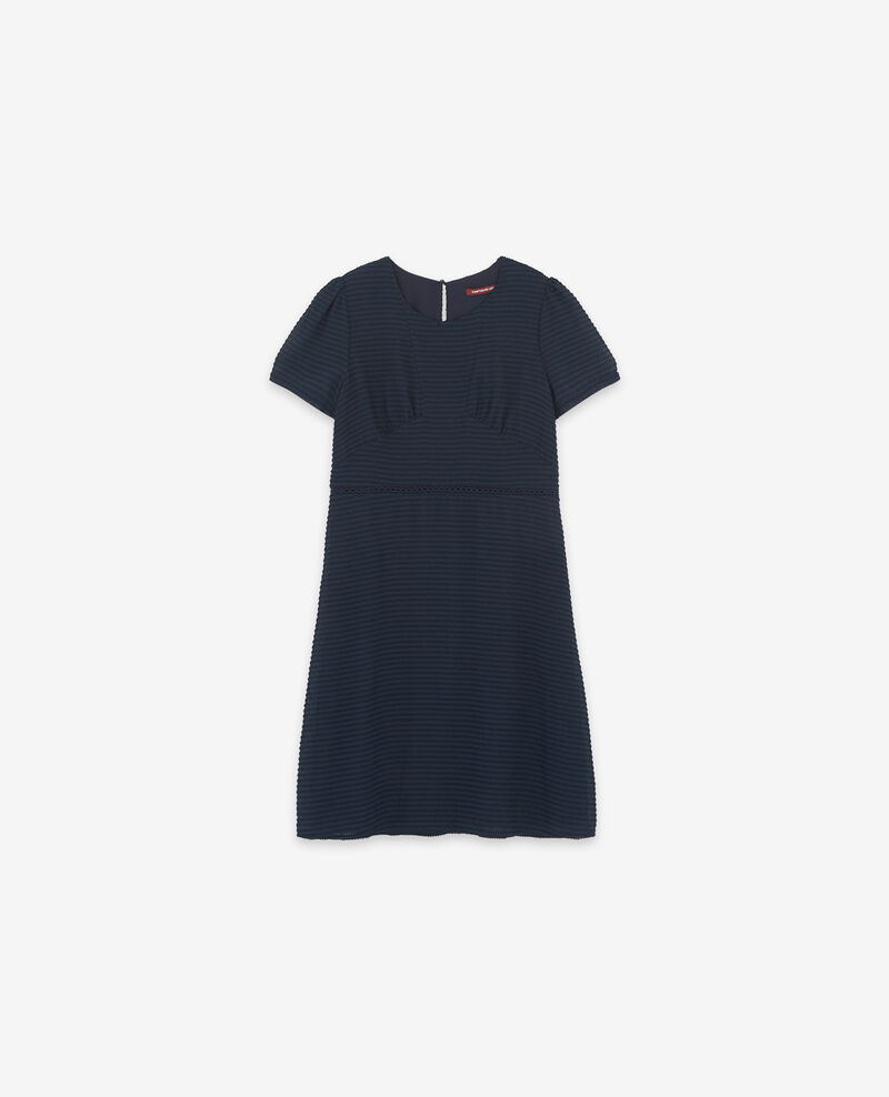 Textured Swiss dot dress Navy Diva
