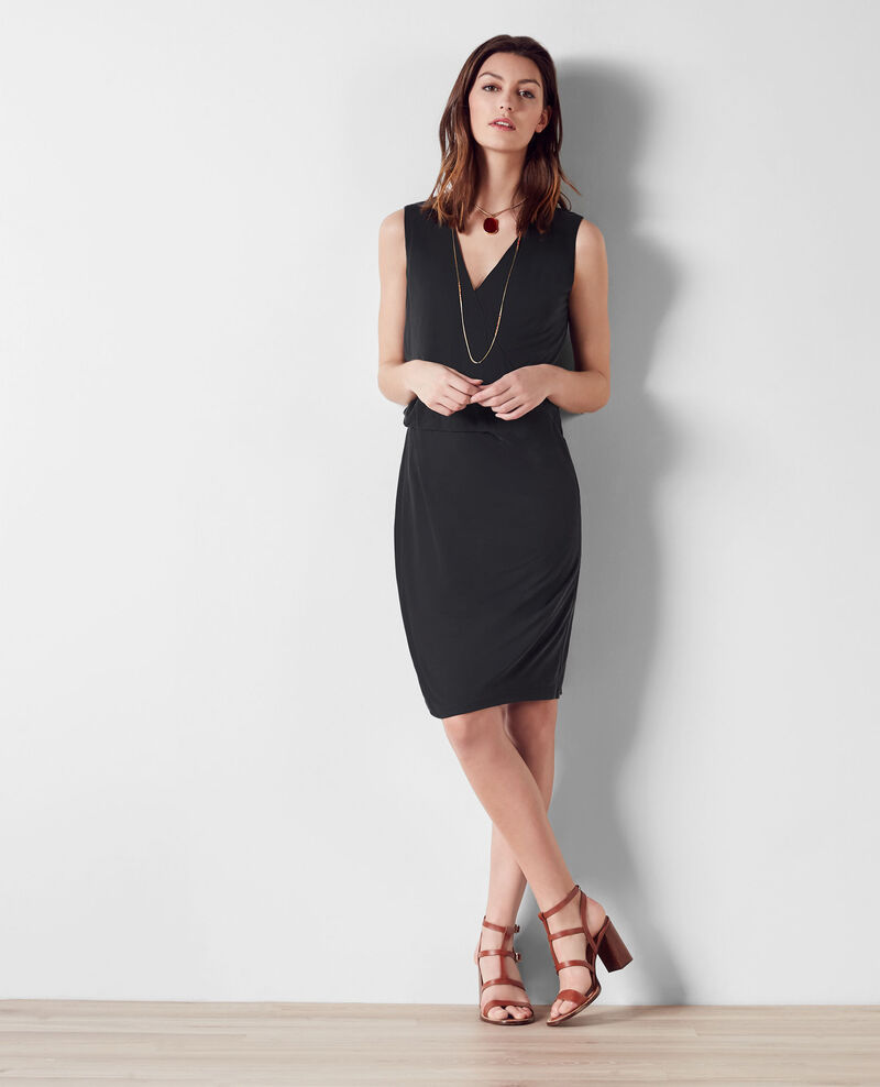 Wraparound dress Noir Calimba