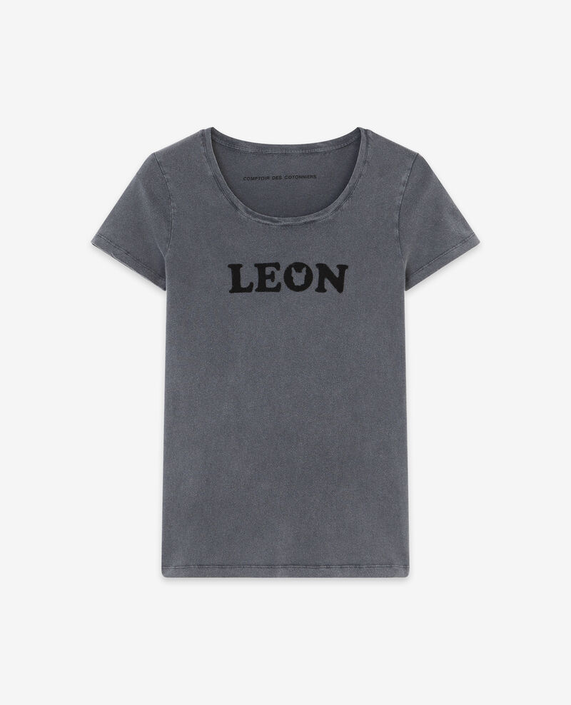 T-shirt mit Léon print Light heather grey Daloupe