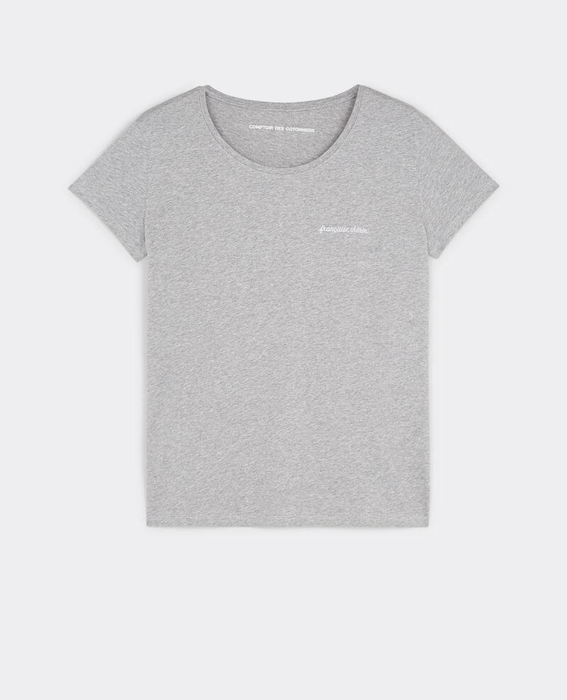 Camiseta con mensaje Française Chérie Gris chine Bright