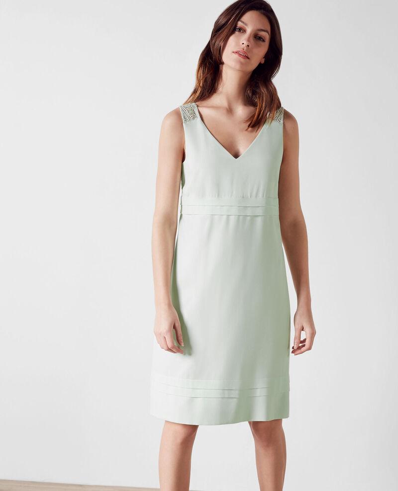 Kleid mit Spitzen-Deatils Mint cream Chypre