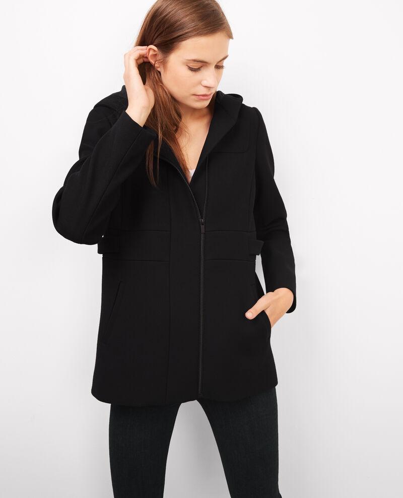 Manteau avec laine et coton noir birthday comptoir des - Manteau peau retournee comptoir des cotonniers ...