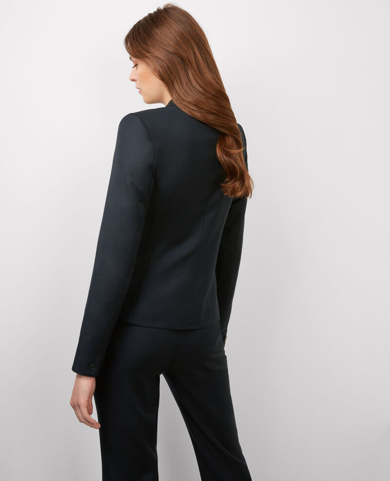 Veste office en laine Dark ocean Beli
