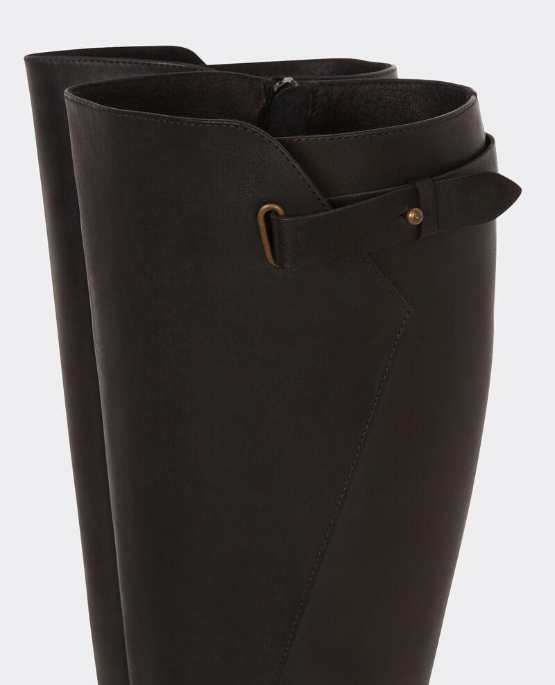 Botas altas de cuero Noir Botte