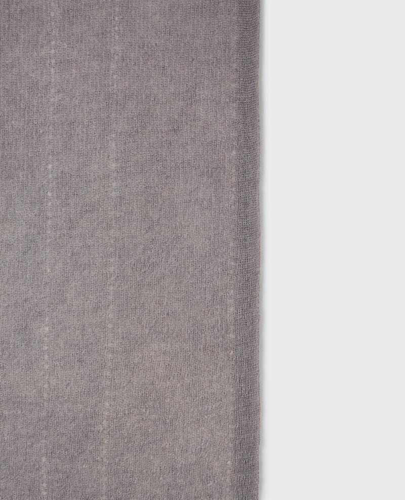 Echarpe en mohair et laine Iron grey Caniche