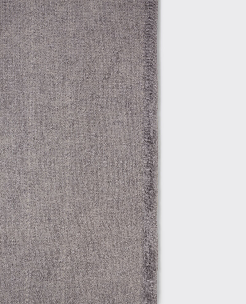Bufanda de lana y mohair Iron grey Caniche