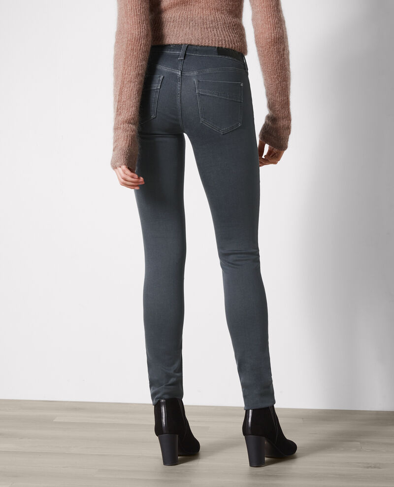 "Jeans slim ""Ma demoiselle"" Dark grey Cibou"