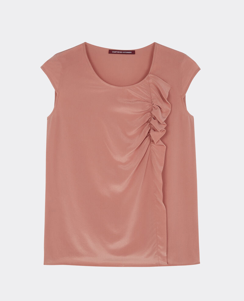 Top en soie Terracotta Bliss