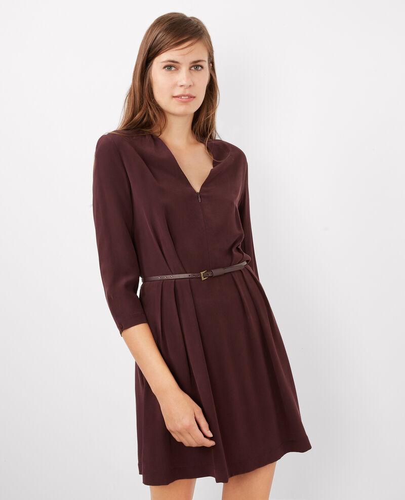 robe cache c ur en soie maroon begood comptoir des cotonniers. Black Bedroom Furniture Sets. Home Design Ideas