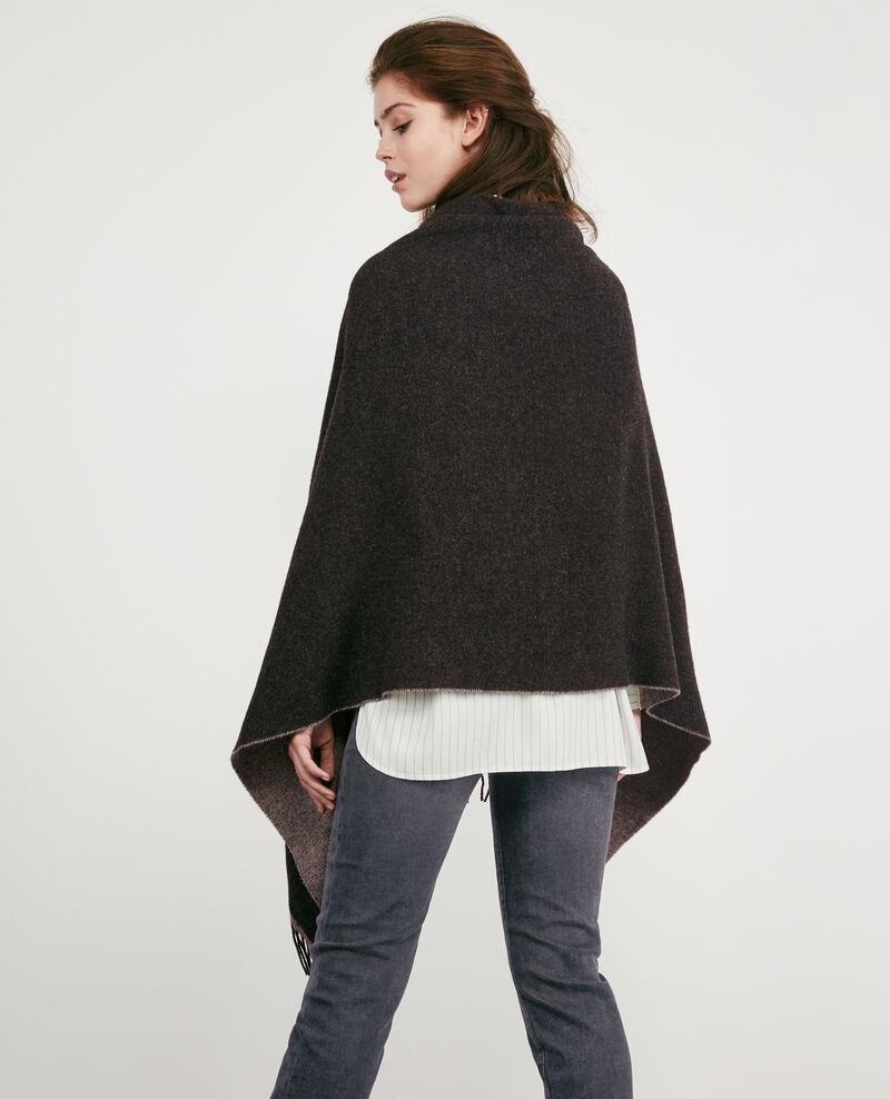 Cardigan-étole avec laine Anthracite Double