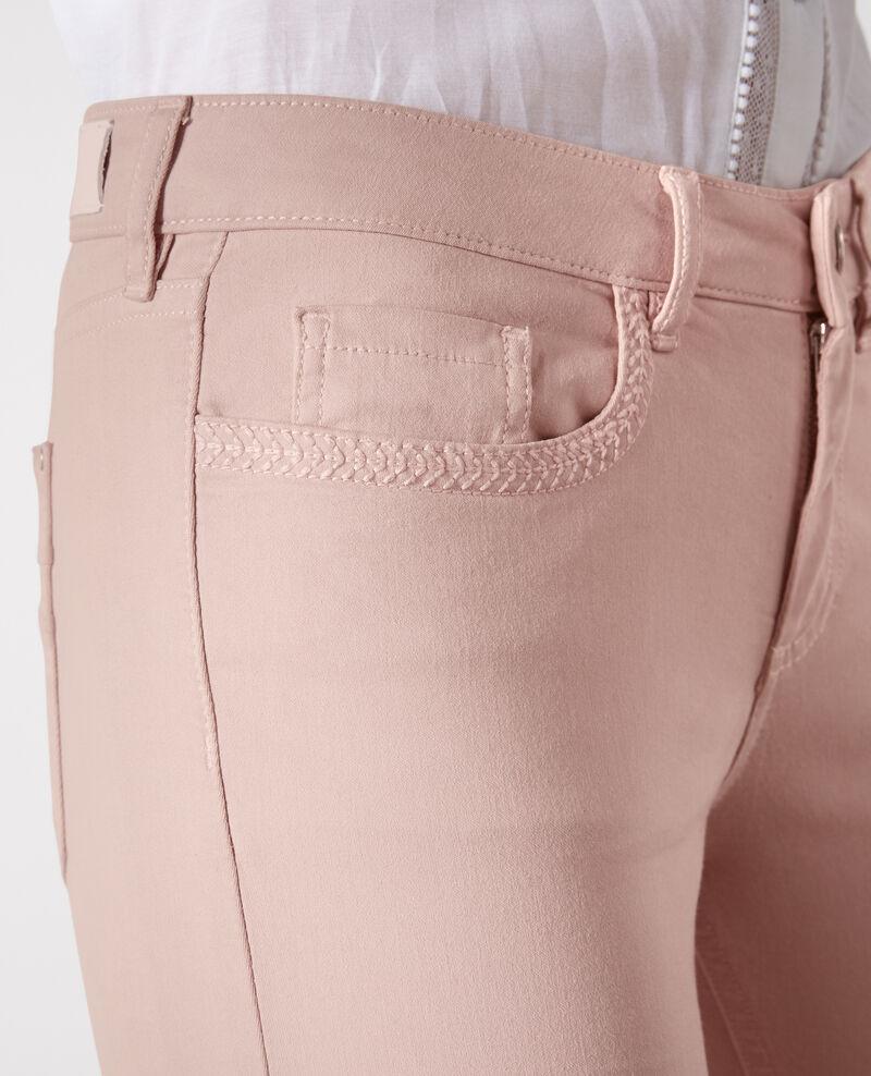 """Jeans droit effet peau de pèche """"Fille dans le vent"""" Peach Cigogne"""