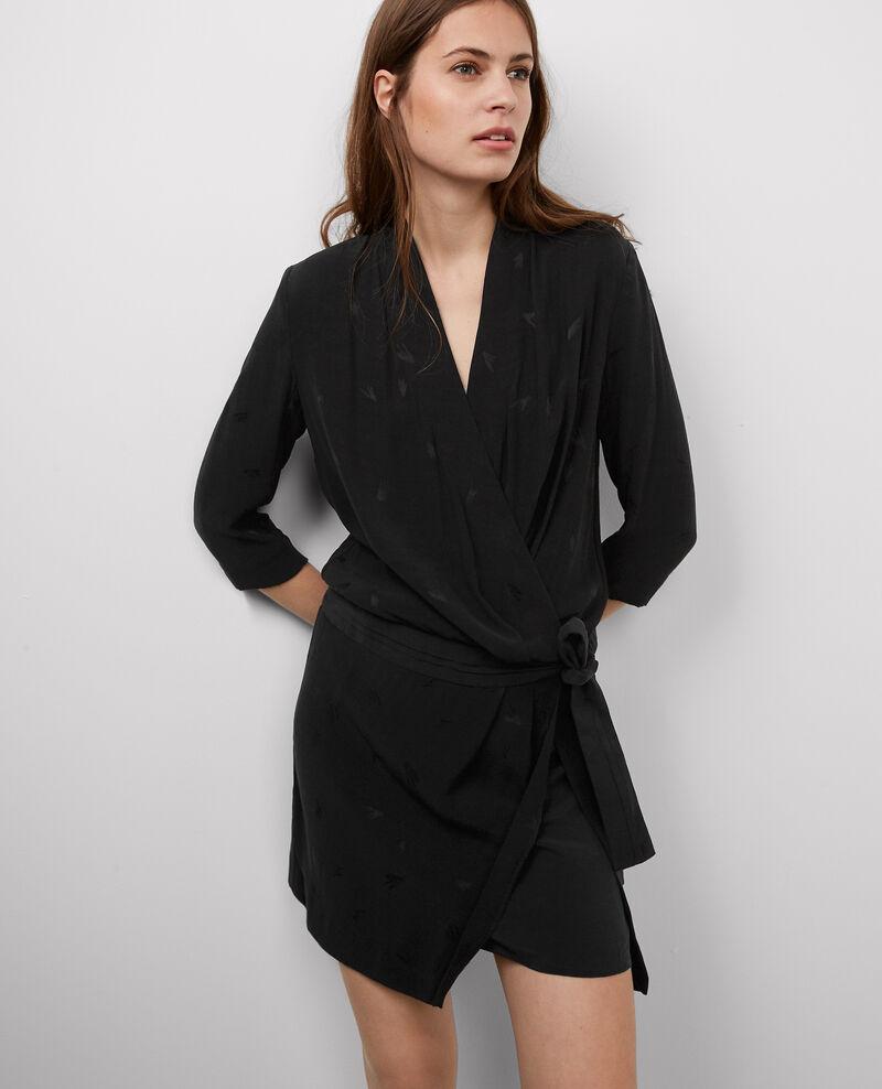 Vestido con escote cruzado Noir Bigfeel