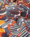 100% wool printed scarf Shaft curcuma Derby