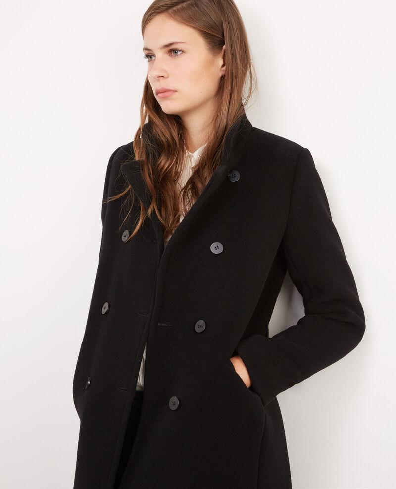 Manteau officier avec laine noir bicoat comptoir des cotonniers - Le comptoir des cotoniers ...