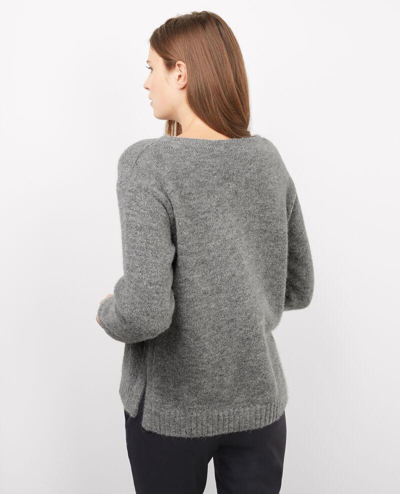 Jersey de baby alpaca con detalle de lúrex Gris chine Barbara