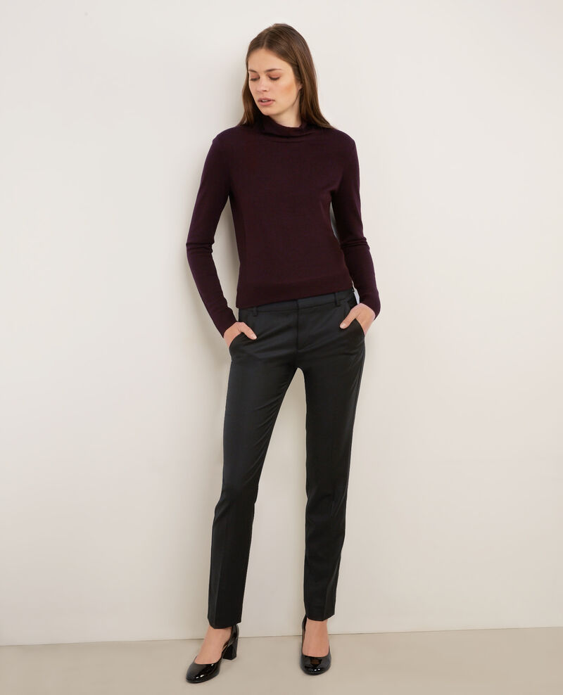 Tailored wool trousers Noir Botiya