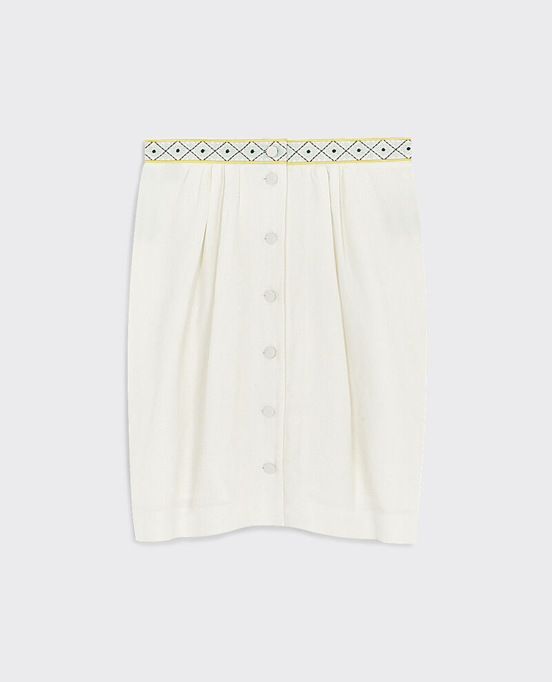 Silk and linen skirt Lin Colza