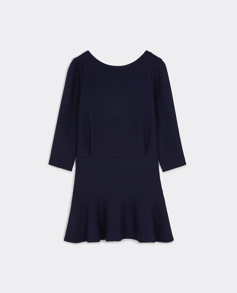 Knit effect dress Dark ocean Bulup