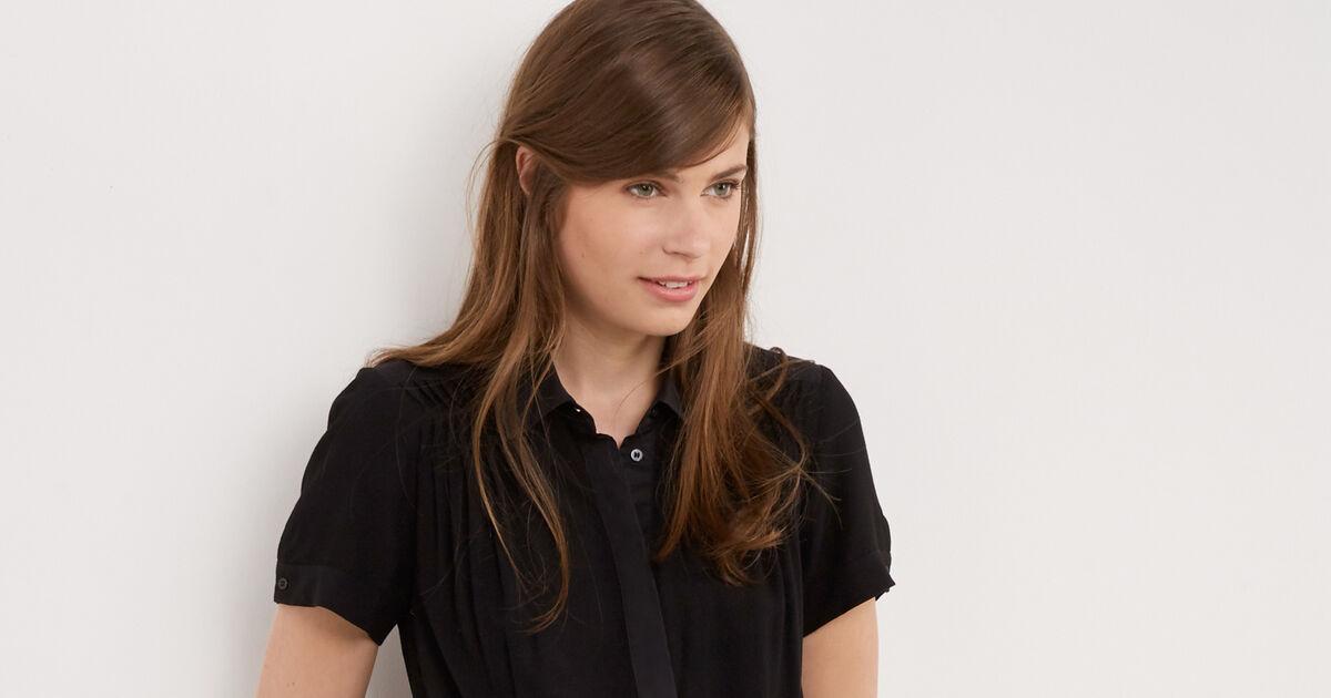 Shirt collar dress Noir