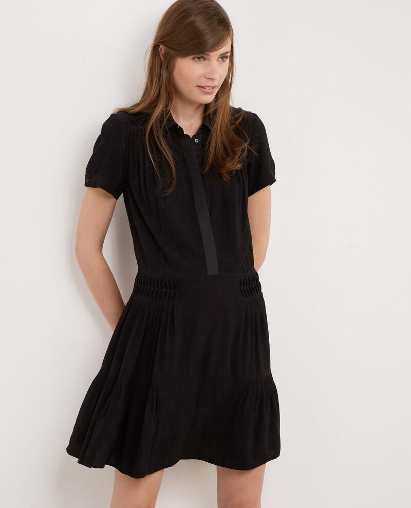 Vestido de cuello camisero Noir Bonjour