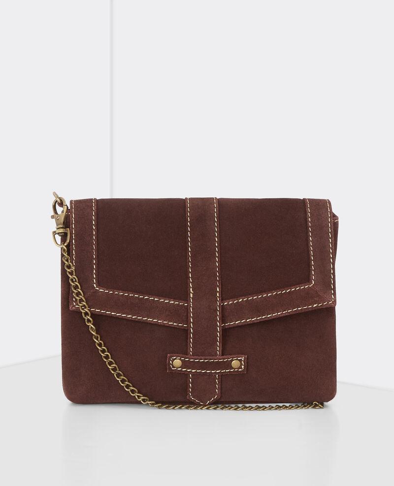 Caja regalo - bolso de cuero y broche Maroon Bellenuit