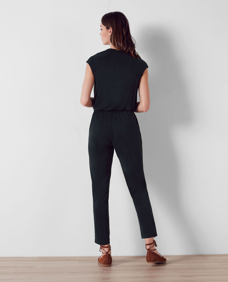 Combi-pantalon fluide Noir Carabella