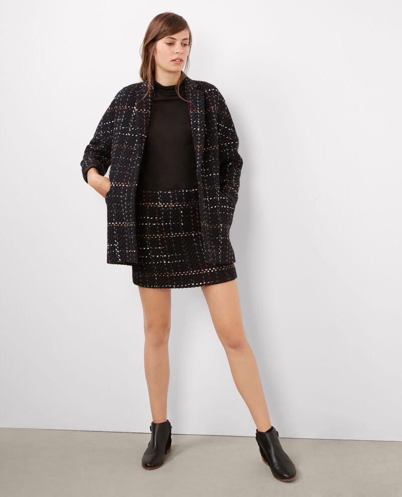 Manteau oversize en tweed Dark ocean Biffy