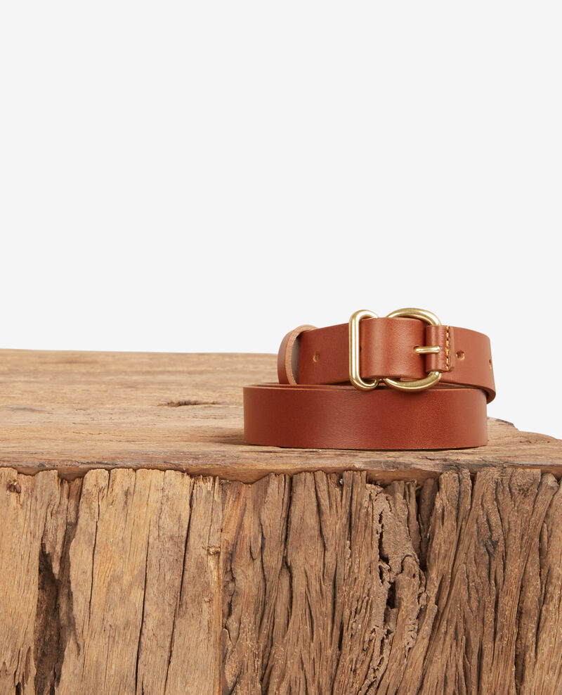 Leather belt Cognac Dean