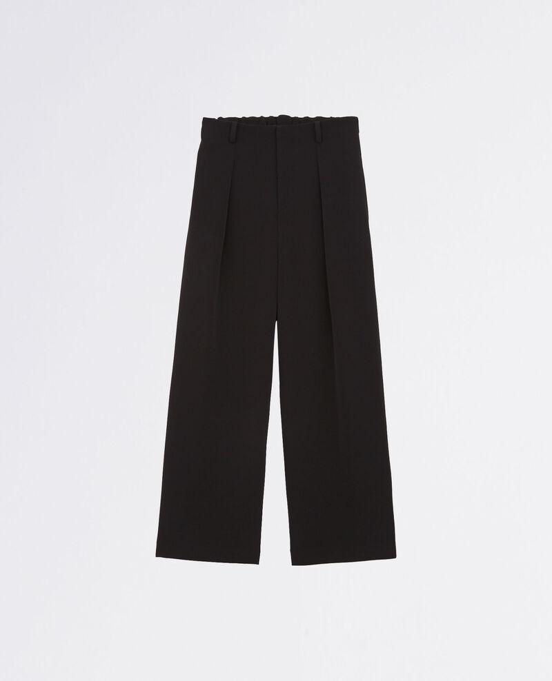 Pantalón amplio y fluido Noir Chouette