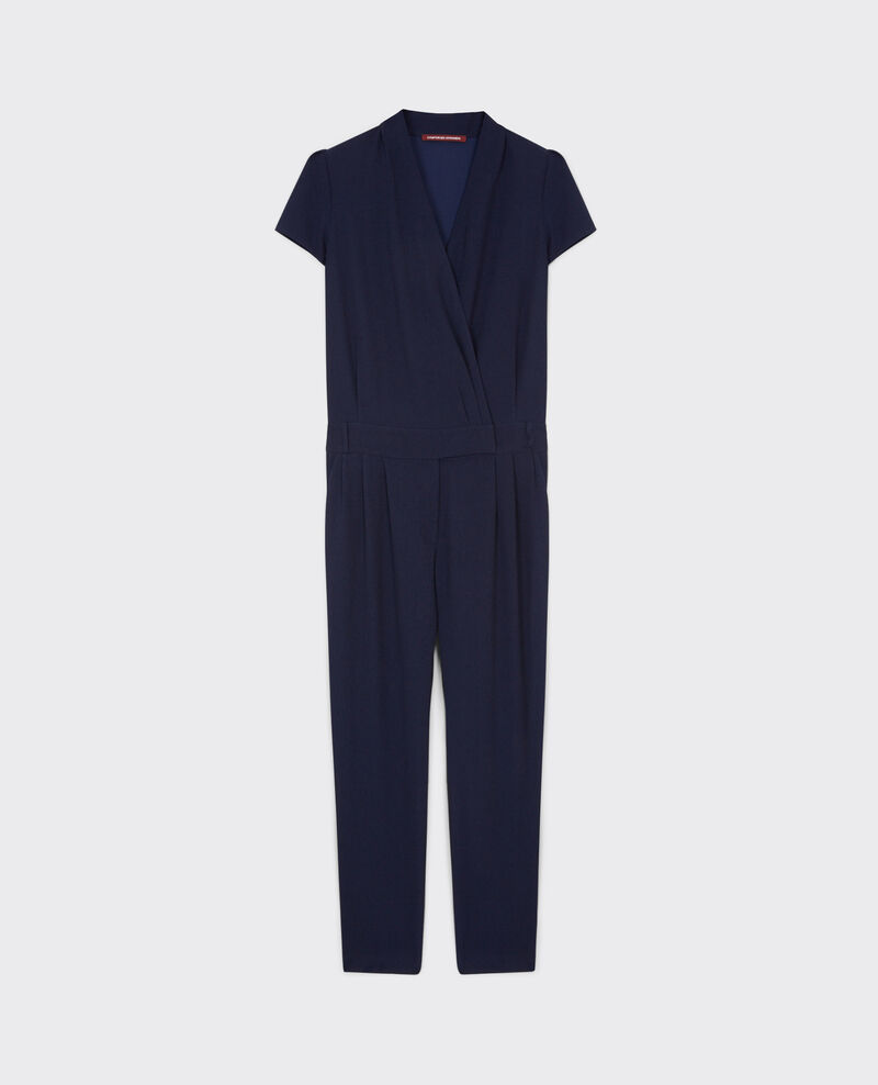 Crepe jumpsuit Dark navy Cabalona