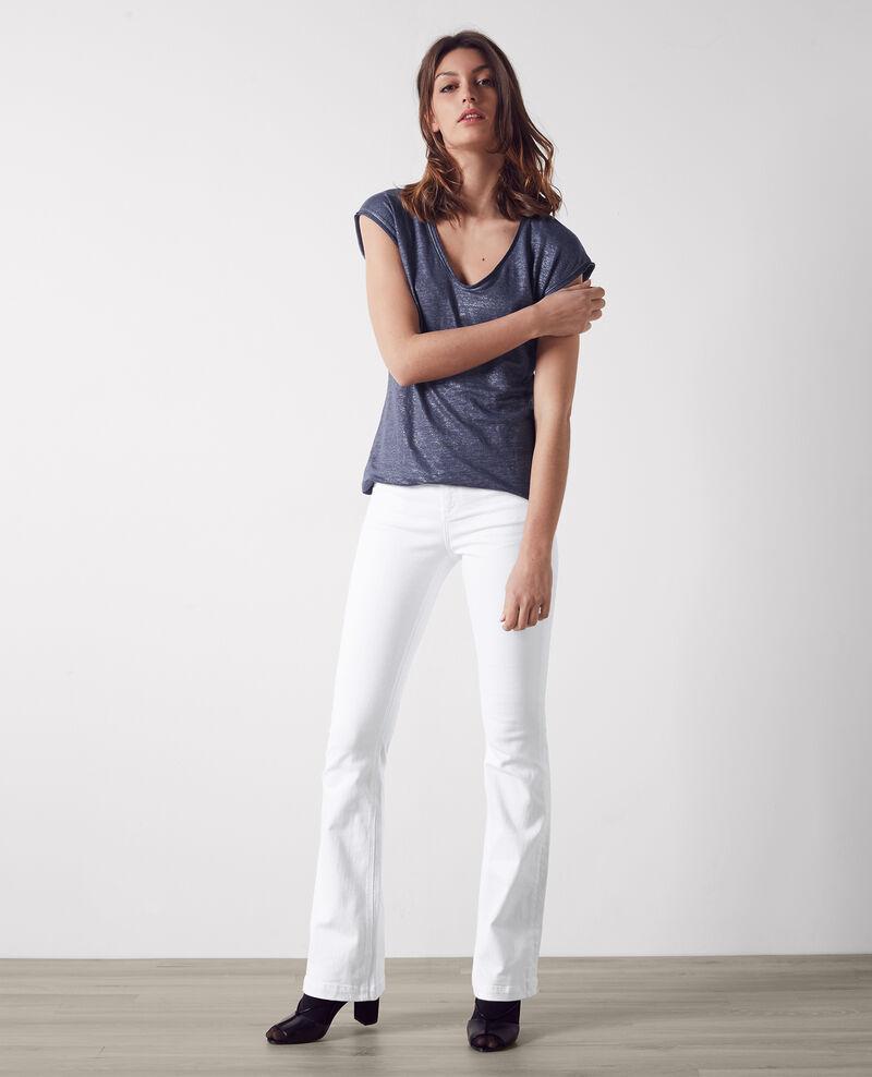 jeans flare taille haute folie douce off white capetown comptoir des cotonniers. Black Bedroom Furniture Sets. Home Design Ideas