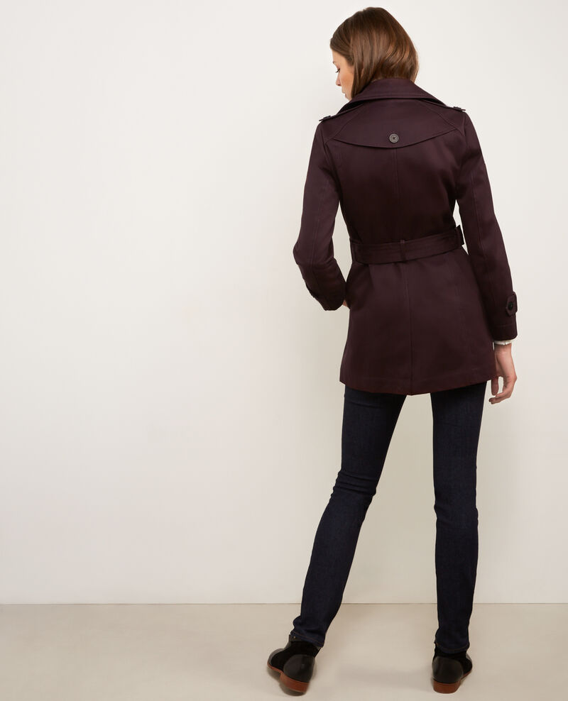 Trench iconique court Maroon Braise