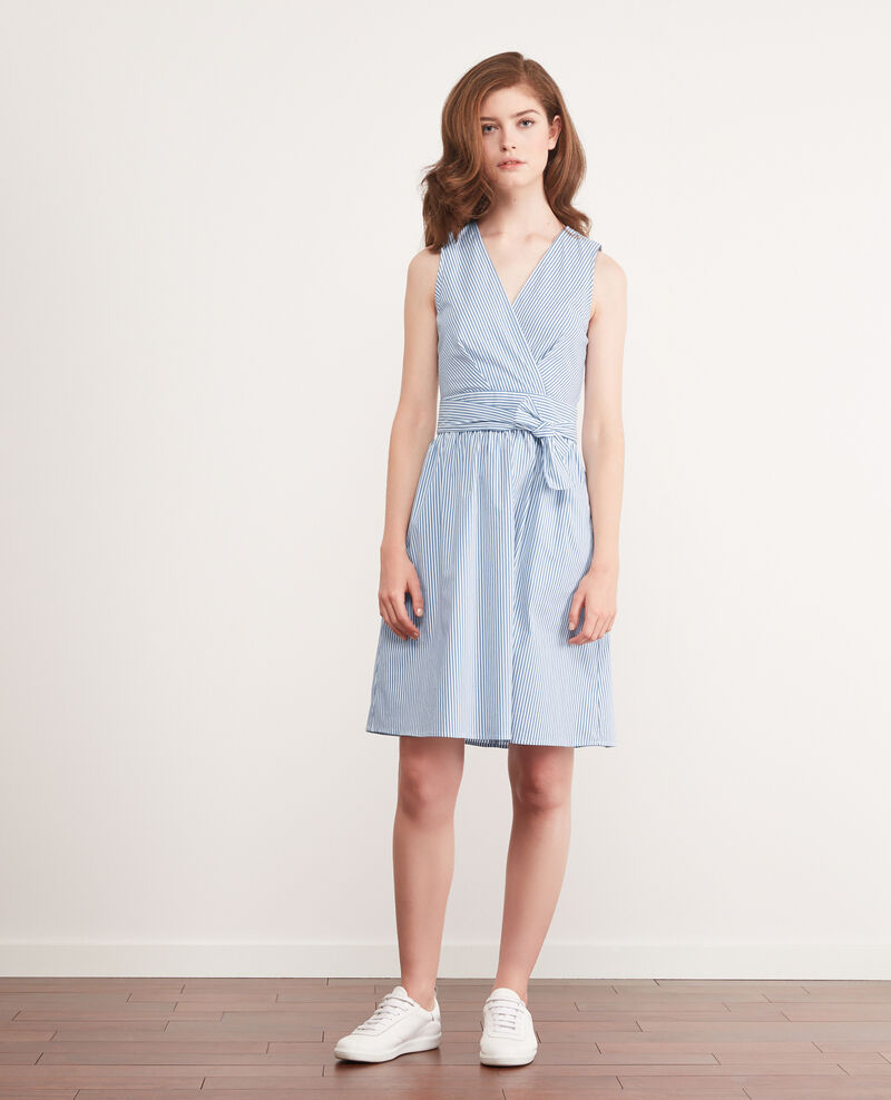 Striped dress Indigo/white Cassiopee
