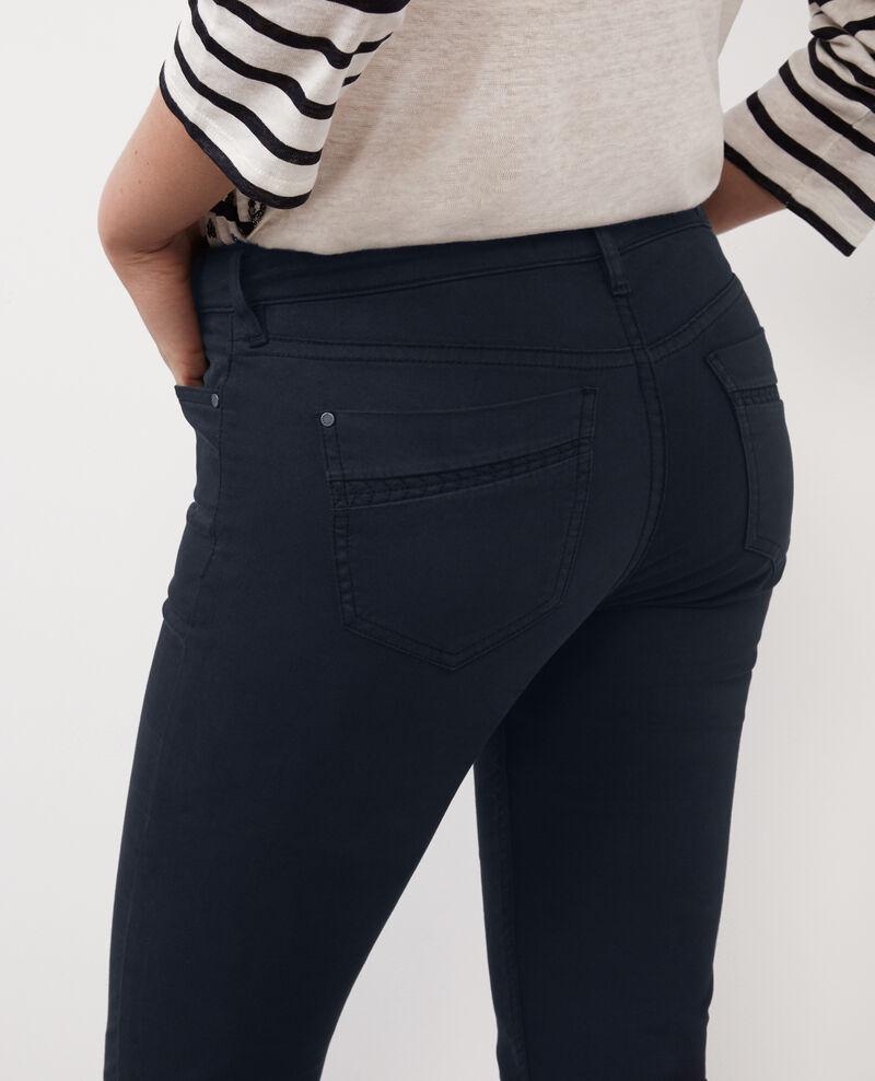 """Jeans rectos piel de melocotón """"Rendez-vous"""" Dark ocean Baimee"""