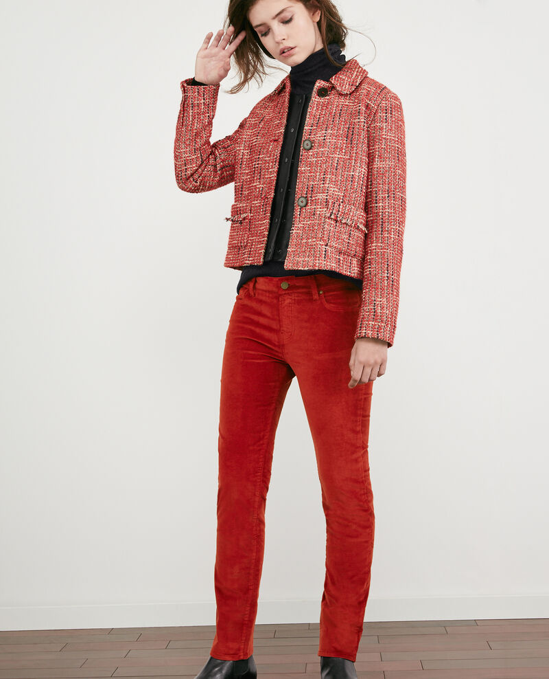 Stretch velvet cigarette pants Devil Decharpe