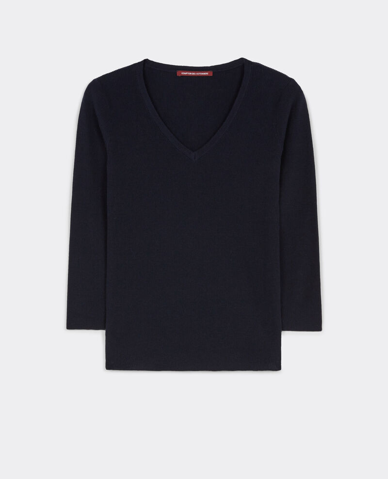Cotton and cashmere jumper Dark ocean Bacardi